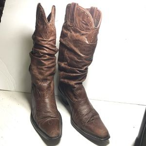 Steve Madden vintage brown leather cowboy boots